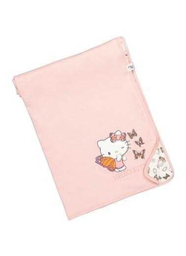 Hello Kitty Lisanslı Penye Battaniye 80X85Cm 17484 Somon